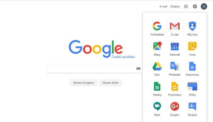 Přihlašování ke Gmailu z vyhledávání.