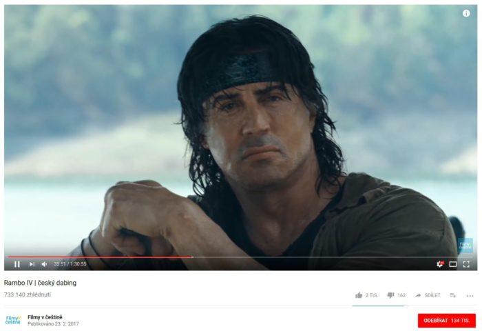 Na Youtube je spousta kvalitních filmů.