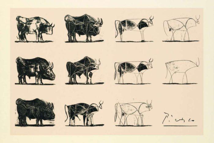 Známé Picassovo schéma zjednodušování.