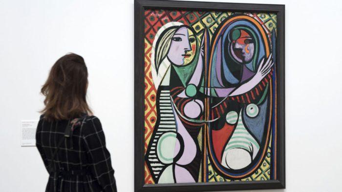 Pablo Picasso a Dívka před zrcadlem.